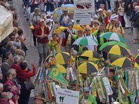 Während des großen Festumzuges in Paderborn Fotos: J. Kuhr / Deutscher Wanderverband