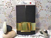 Menu - Noël - Père Noël - Boucle - Ceinture - Stickers - Strass - Simple - Facile - Tutoriel - Youtube - Dore - Noir - Blanc - Perforatrice - Etoile