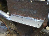 les supports brides du pont et les supports des longerons de chassis