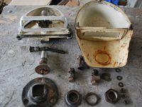 pose provisoire pour essais du blackout,des supports chassis, et des cables de freins des barbotins