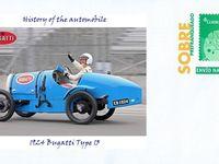BUGATTI TYPE 13  BRESCIA   Vue au dernier « Pujaut Auto Rétro 2015 », et encore plus ancienne que la SLIM de 1922, une BUGATTI TYPE 13  BRESCIA de 1921.
