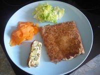 Crêpe au surimi sauce à l'ail