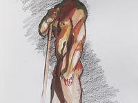 nus masculin Gouaches