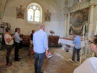 Visite de l'église de Lhomme sous la conduite d'André Guicheteau