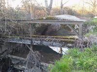 Le barrage, le pont et la vanne à crémaillère sont les derniers vestiges du moulin de Parmoins.