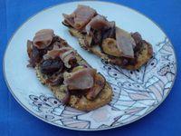 Bruschettas aux figues et au jambon