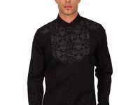 Shirt rear buttoned for men