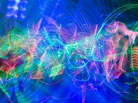 Activité light painting au centre de loisirs