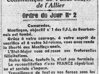 Le Centre Républicain (extraits des 26, 29 et 30 août 1944)