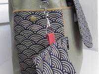 (Tissu japonais et simili cuir)