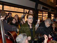 Bono sur Grafton Street Dublin 24/12/2015