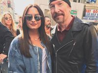 U2 -The Edge - Women's March à Los Angeles le 21/01/2017