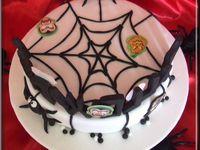 Tutoriel gâteau décoré pour Halloween avec araignée, sorcière, vampire, citrouille et fantôme...