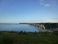 Yport, promenade du soir, au soleil couchant, douceur d'été, Cl. Elisabeth Poulain
