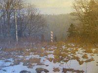 Frontières sur pelouse, en forêt, Cl. Elisabeth Poulain