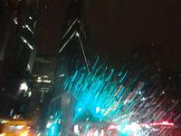 Paris, La Défense, les couleurs de la nuit, Cl. Elisabeth Poulain.