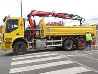 France Ouest, vélo jaune en partie, camion aux cache-roues jaunes, camion jaune, Cl. Elisabeth Poulain