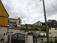 Gaillon ville, remontée au Château par la sente douce, mur de soutien du vertugadin, Cl. Elisabeth Poulain