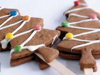 Les sapins en biscuits