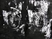 Monotypes, et pochoir au lavis, de Catherine Maisse (cliquez pour agrandir)