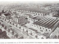 """L'Usine Simca qui fabriquera l'Aronde, la société anonyme d'Accumulateurs et la société L'Aliment Essentiel"""" Ch. Heudebert"""