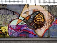 A nord des bassins à flôt N°1 le Street art envahi les murs des anciens entrepots