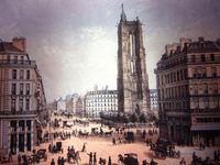Au fil de l'exposition sur la tour Saint-Jacques et son historique