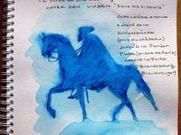 Carnet de voyage aquarelles 2016 à Berlin