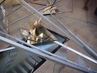 """""""Crystallized"""" L'installation vue en journée Cour des Musées Gadagne"""
