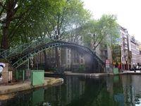 Le canal Saint-Martin, une étape obligée entre le Marais et l'hôpital Saint-Louis, Paris10ème arrondissement