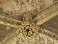 Quelques détails de la chapelle royale. En bas à gauche, le moulage en plâtre de Saint-Louis