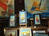 Bretagne : DI MIGUELLE l'art de la peinture gestuelle spontanée à PAIMPOL