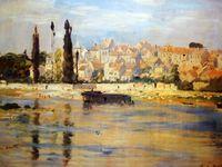 """""""Carrières-Saint-Denis"""" par Claude Monet (1872) devenu Carrières-sur-Seine en 1905, année même où Maurice de Vlaminck peignit """"Le Village"""""""