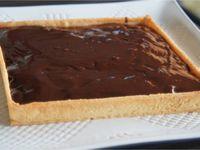 Tarte au chocolat vite fait bien fait avec des restes