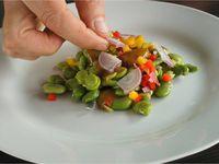 Petite salade de fèves