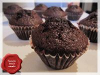 Muffin au chocolat, coeur coulant Nutella
