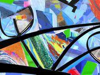 Blues - Triptyque - Tableaux numériques sur toile- 70x50
