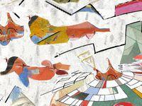 Oniri 1/2/3 triptyque : tableaux numériques sur toile120x80