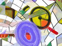 Sans titre.Triptyque . Oeuvre numérique sur toile 80 x 120 cms - juin juillet 2015