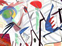 Sans titre.Triptyque .Oeuvre numérique sur toile 80 x 120 cms .nov dec 2015