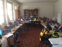 L'école de vélo du VCA a participé aux épreuves de QCM, jeux d'adresse, ou encore aux sprints.