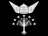 1/ Blason des rois du Gondor : Un arbre blanc, 7 étoiles, une couronne triple ailée. 2/ Blason des papes romains. 3/ Le code de la tiare papale dévoilée.