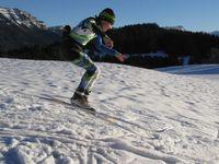 Skiathlon sur fond de Mont-Blanc le 02/12/15