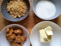 Préparation de la pâte à cookies au beurre de cacahuète et la crème au philadelphia