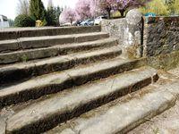 escaliers à Bourbonne-les-Bains, à Vesoul cinéma d'asie et vers la gare
