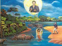 CENTRAFRIQUE : Francois Yagoua - artiste peintre