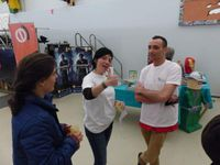 l'association Spinarcades en force! Olivia et Anthony du CDJ