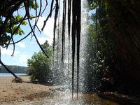 Réveil &#x3B; la cascade de Soulou sur la plage &#x3B; la marche d'approche en foret de bambou.