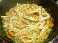 Préparation de la sauce aux langoustines