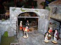 crèche 2015 avec des santons Flore